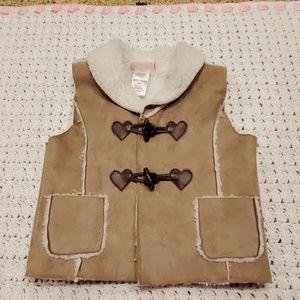 Little Lass faux rawhide feel vest. 24 mo
